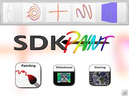 SDK Paint Lite iPad Title Menu