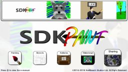 SDK Paint Wii U Title Menu